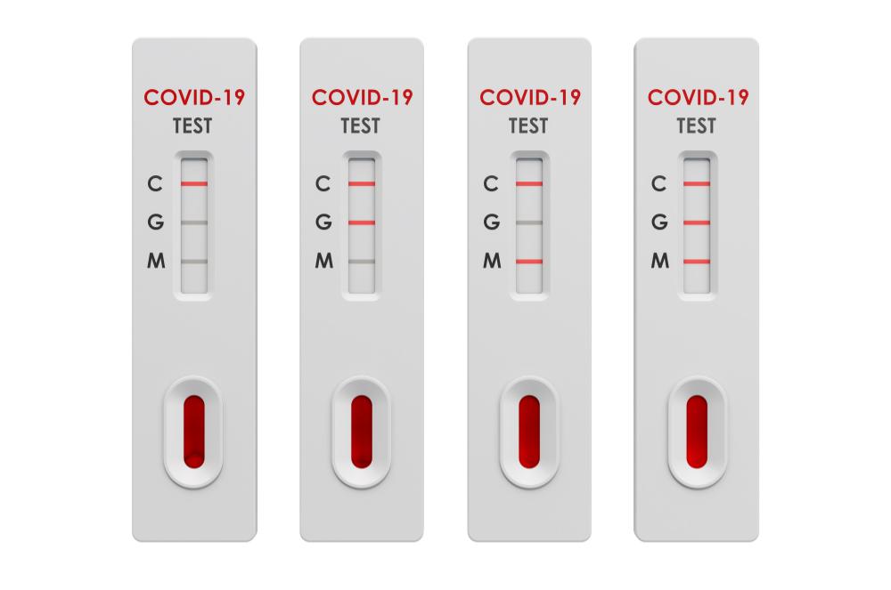 Test COVID-19 coronavirus, positivo y negativo test rápido